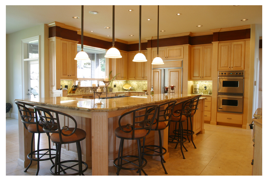 something as simple as changing your kitchen and dining room lighting